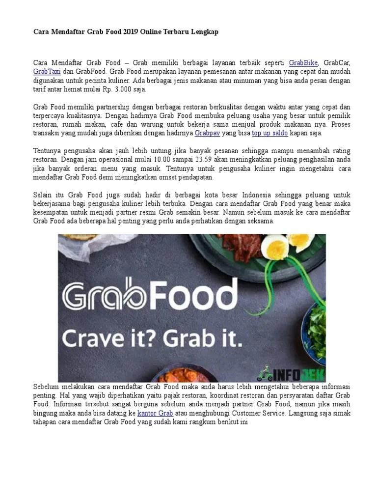 Cara Cepat Daftar Grabfood : cepat, daftar, grabfood, Mendaftar, Grabfood, Gofood, Online, Cute766