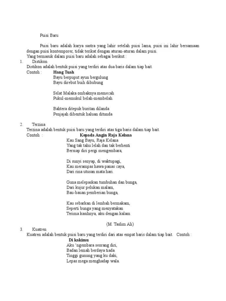 Contoh Puisi Baru Distikon : contoh, puisi, distikon, Puisi