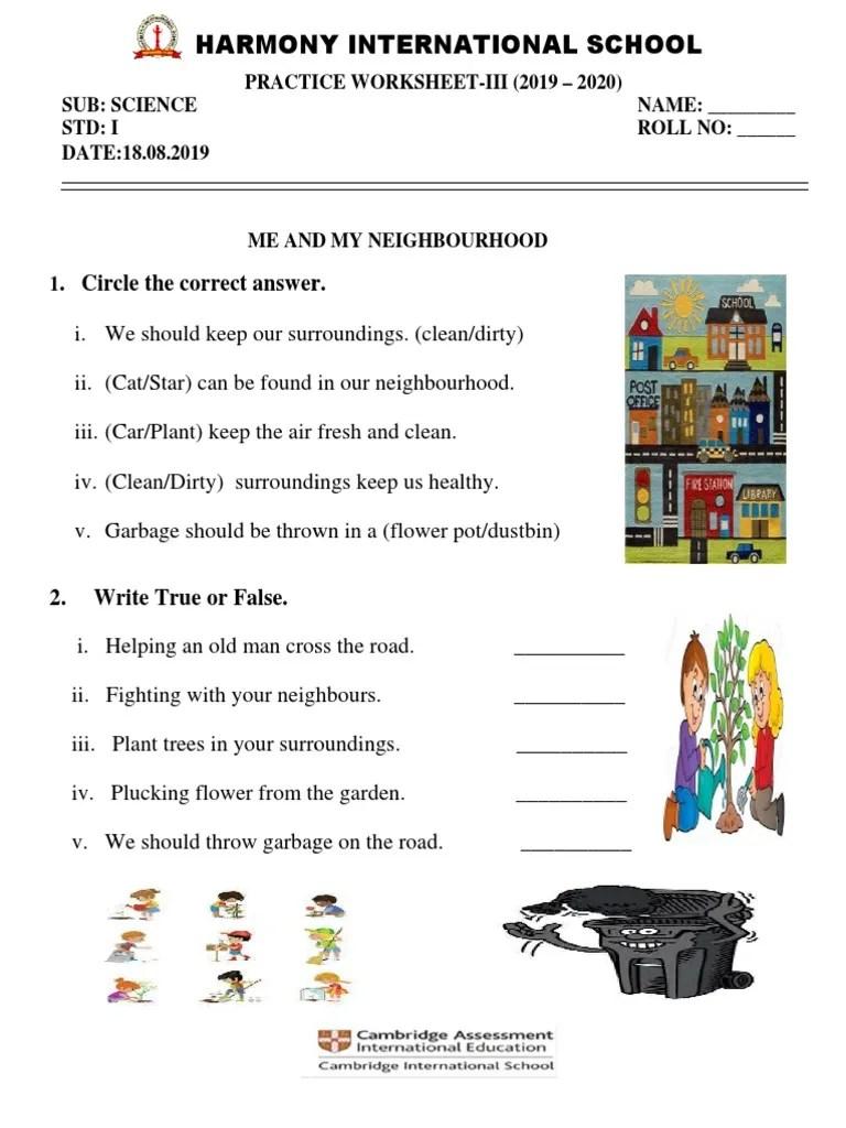 medium resolution of Science practice worksheet III of grade 1_2019-20.pdf   Hobbies    Environmental Design