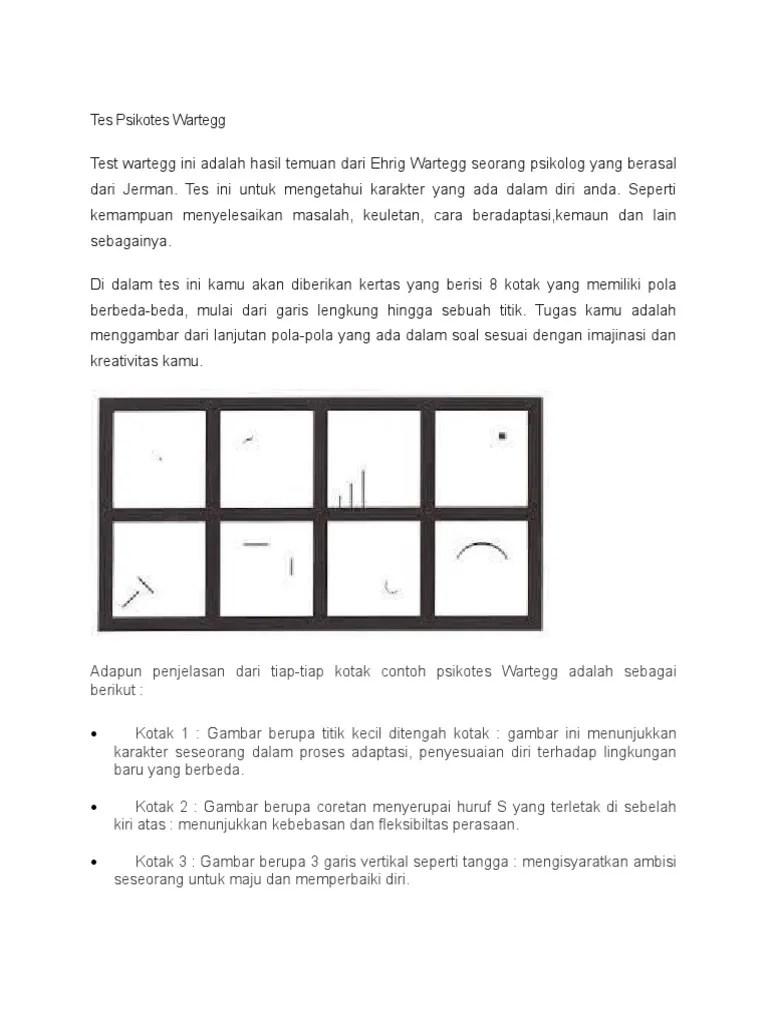 Tes Psikotes Menggambar Titik : psikotes, menggambar, titik, Psikotes, Wartegg