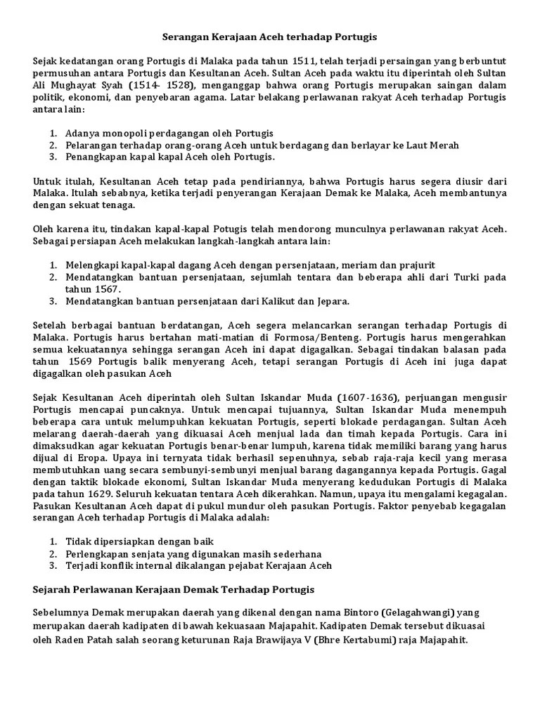 Perlawanan Demak Terhadap Portugis : perlawanan, demak, terhadap, portugis, Perlawanan, Indonesia, Terhadap, Portugis, Spanyol