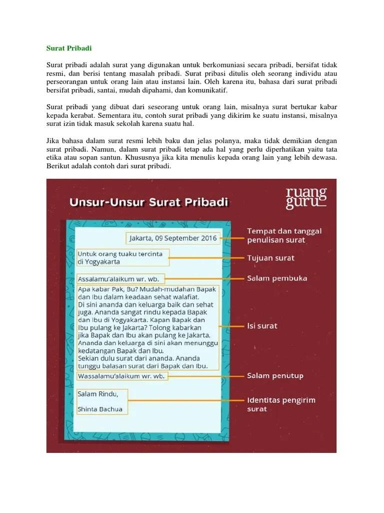 Surat Resmi Dan Surat Pribadi : surat, resmi, pribadi, Surat, Pribadi, Resmi