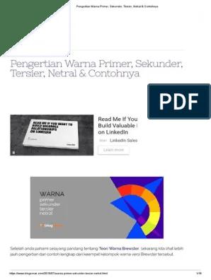 Pengertian Warna Primer Dan Sekunder : pengertian, warna, primer, sekunder, Pengertian, Warna, Primer,, Sekunder,, Tersier,, Netral, Contohnya.pdf