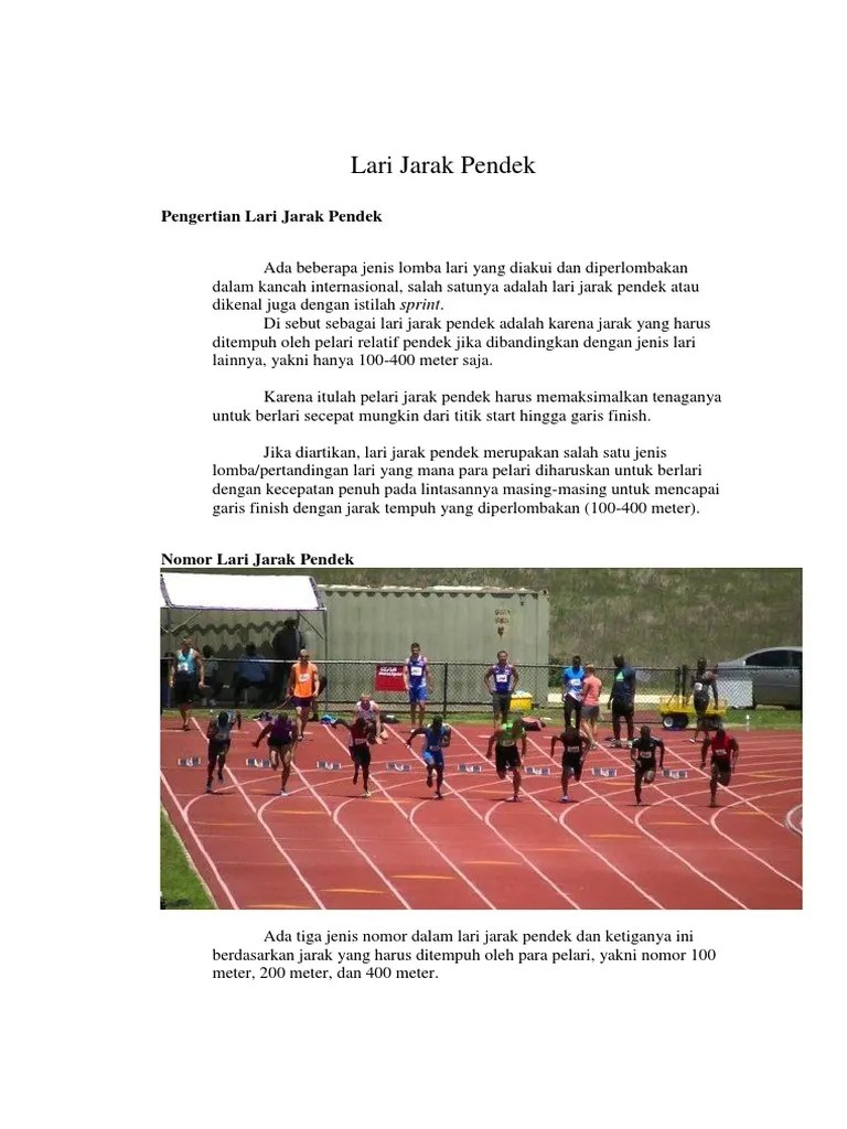 Lari Jarak Pendek : jarak, pendek, Jarak, Pendek
