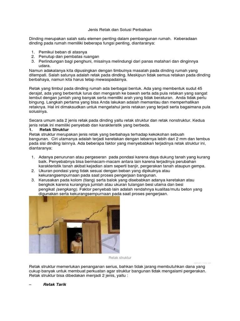 Memperbaiki Dinding Retak Struktur : memperbaiki, dinding, retak, struktur, Jenis, Retak, Solusi, Perbaikan