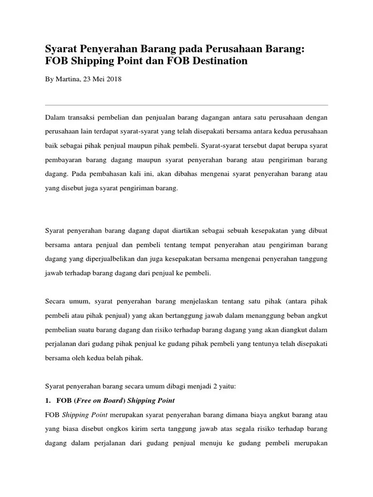 Syarat Penyerahan Barang Dalam Perusahaan Dagang : syarat, penyerahan, barang, dalam, perusahaan, dagang, Syarat, Penyerahan, Barang, Perusahaan, FOB.docx