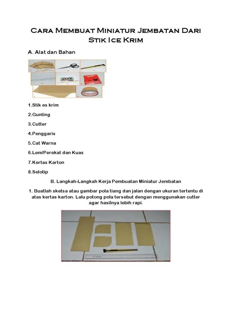 Cara Membuat Miniatur Jembatan Dari Stik Es Krim : membuat, miniatur, jembatan, Membuat, Miniatur, Jembatan