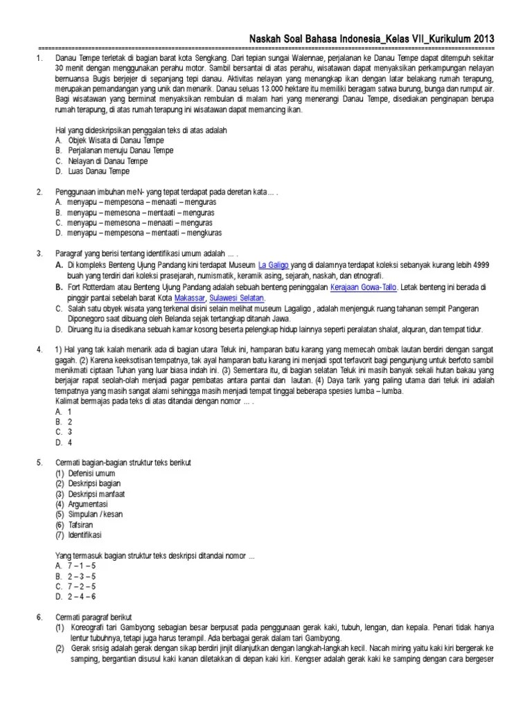 Penggunaan Imbuhan Men Yang Tepat Pada Teks Deskripsi Di Atas Adalah : penggunaan, imbuhan, tepat, deskripsi, adalah, Contoh, Bahasa, Indonesia