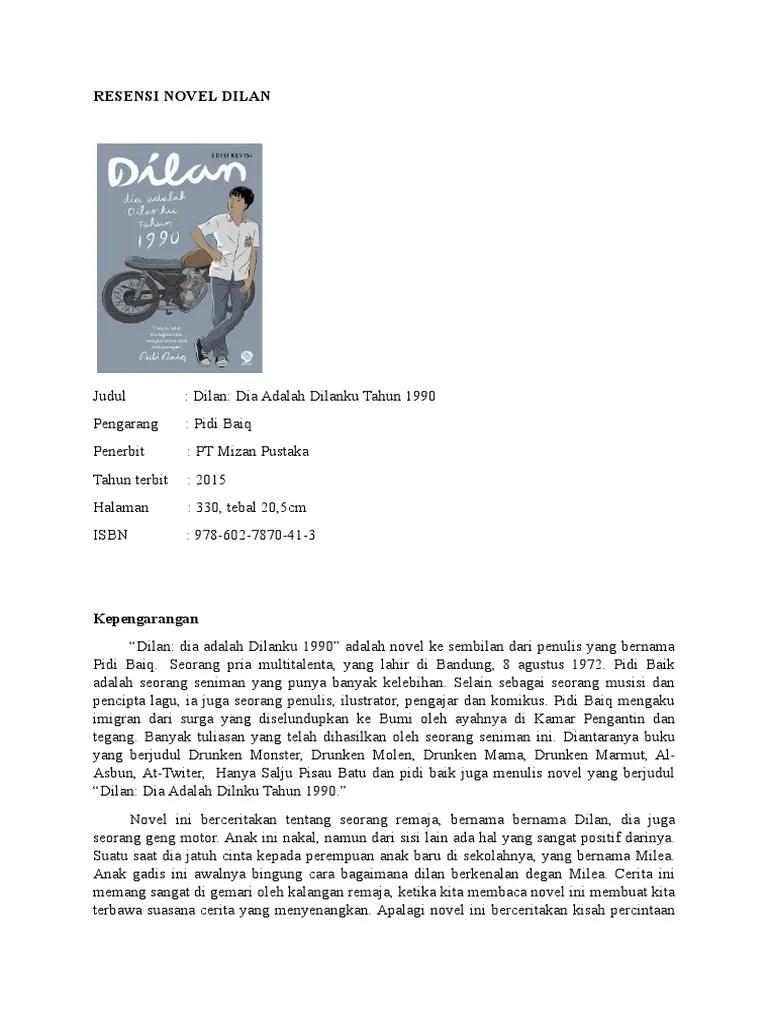 Sinopsis Novel Dilan 1990 : sinopsis, novel, dilan, RESENSI, NOVEL, DILAN.docx