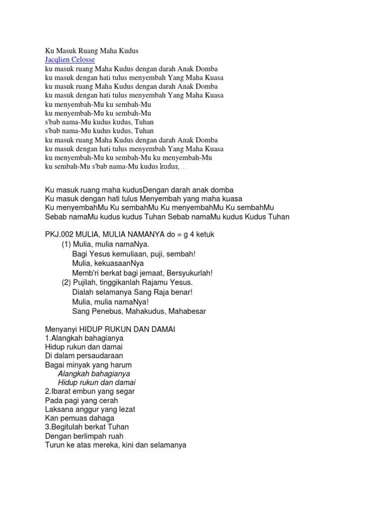 Lirik Ku Masuk Ruang Maha Kudus : lirik, masuk, ruang, kudus, Masuk, Ruang, Kudus, Goreng