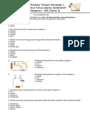 Alat Pemutus Dan Penyambung Arus Listrik Disebut : pemutus, penyambung, listrik, disebut, Kelas, Semester, (Tema3)