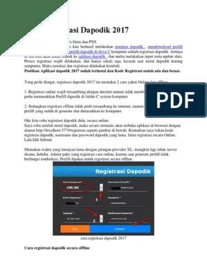 Cara Registrasi Dapodik Offline : registrasi, dapodik, offline, REGISTRASI, DAPODIK