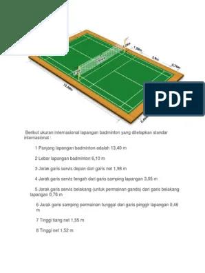 Tinggi Net Badminton : tinggi, badminton, Ukuran, Lapangan, Tangkis.docx
