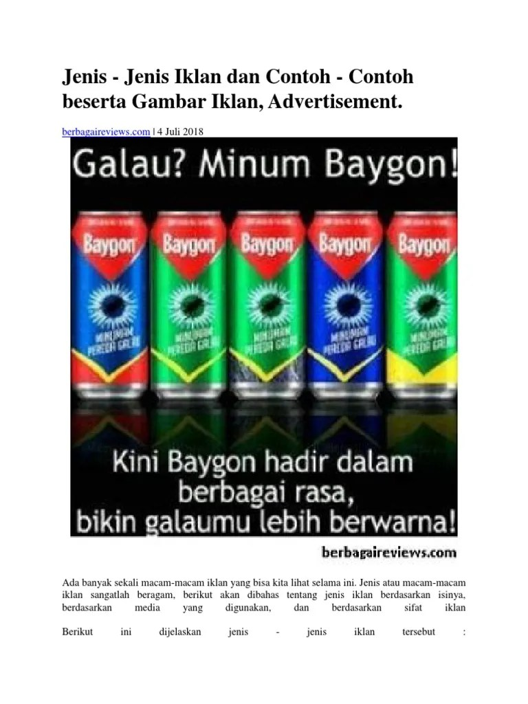 Jenis Jenis Iklan Berdasarkan Isinya : jenis, iklan, berdasarkan, isinya, Jenis, IKLAN