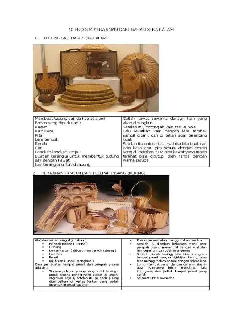 Cara Membuat Kerajinan Dari Serat Alam : membuat, kerajinan, serat, Produk, Kerajinan, Bahan, Serat