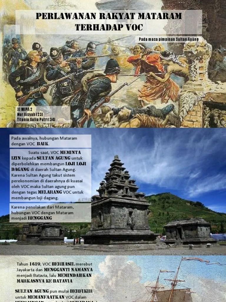 Perlawanan Rakyat Mataram Terhadap Voc : perlawanan, rakyat, mataram, terhadap, Perlawanan, Rakyat, Mataram, Terhadap, Pimpinan, Sultan, Agung