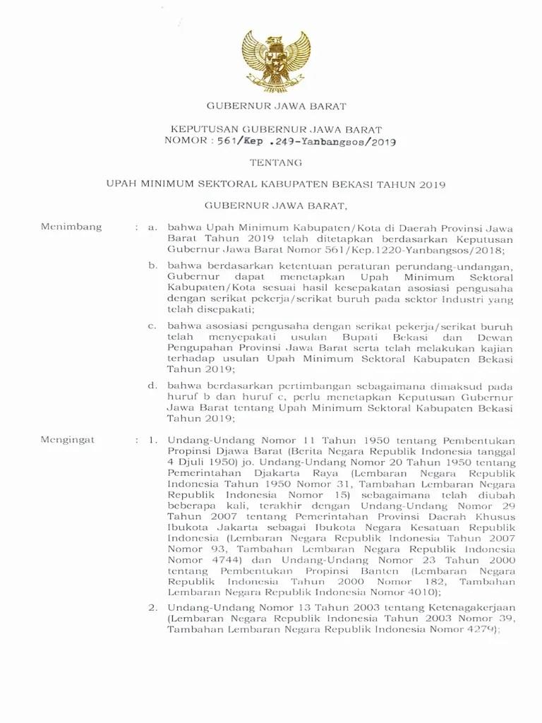 Sk Gubernur Jawa Barat Umk 2019 Pdf : gubernur, barat, SK-UMSK-Kabupaten-Bekasi-2019.pdf