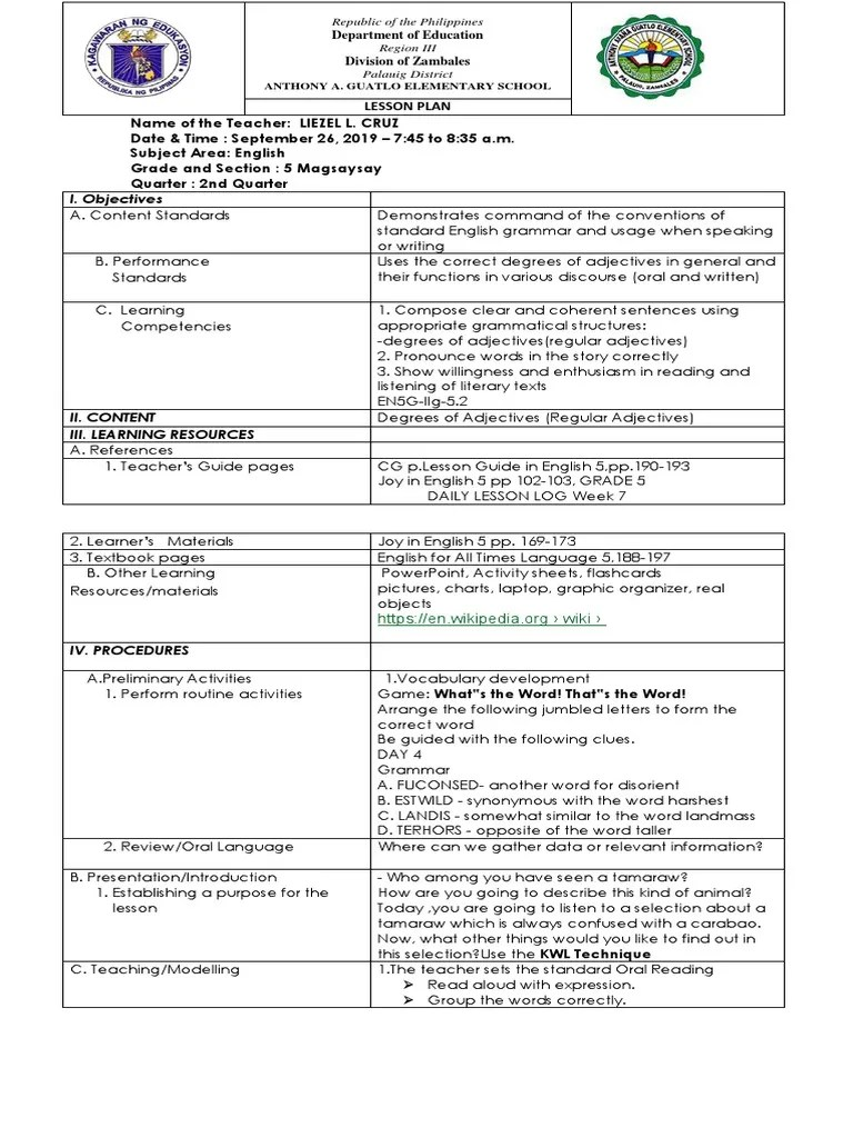 hight resolution of Lesson-plan in Araling Panlipunan for Cot   Linguistics   Language Mechanics