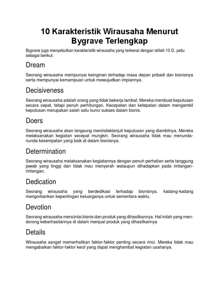 Karakter Wirausaha Menurut Bygrave : karakter, wirausaha, menurut, bygrave, Karakteristik, Wirausaha, Menurut, Bygrave.docx