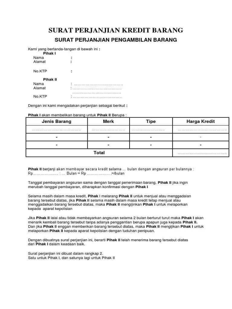 Surat Perjanjian Kredit Hp : surat, perjanjian, kredit, 366725622-SURAT-PERJANJIAN-KREDIT-BARANG-docx.pdf