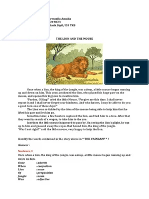 DONGENG INGGRIS (The Lion And The Mouse) | KUMPULAN TUGAS