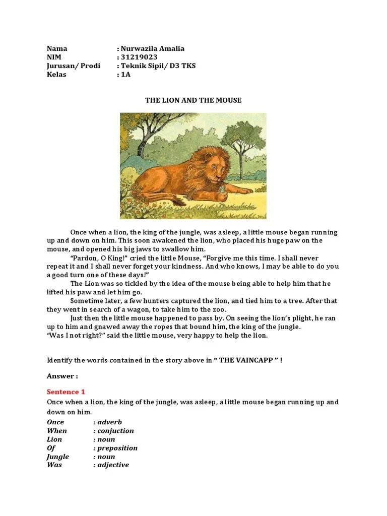 Cerita The Lion And The Mouse : cerita, mouse, Mouse, Adverb
