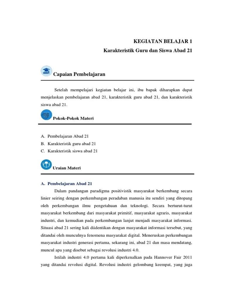 Karakteristik Guru Abad 21 : karakteristik, Karakteristik
