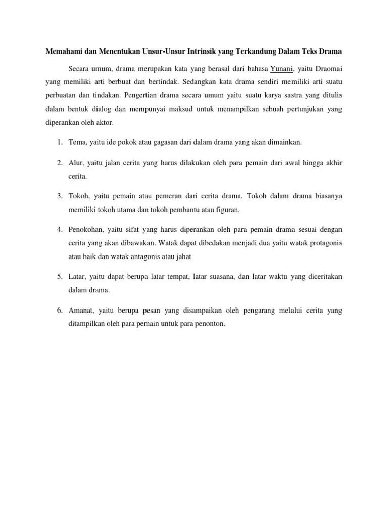 Contoh Naskah Drama Dan Unsur Intrinsiknya : contoh, naskah, drama, unsur, intrinsiknya, Naskah, Drama, Pendek, Beserta, Unsur, Intrinsiknya, Berbagai, Cute766