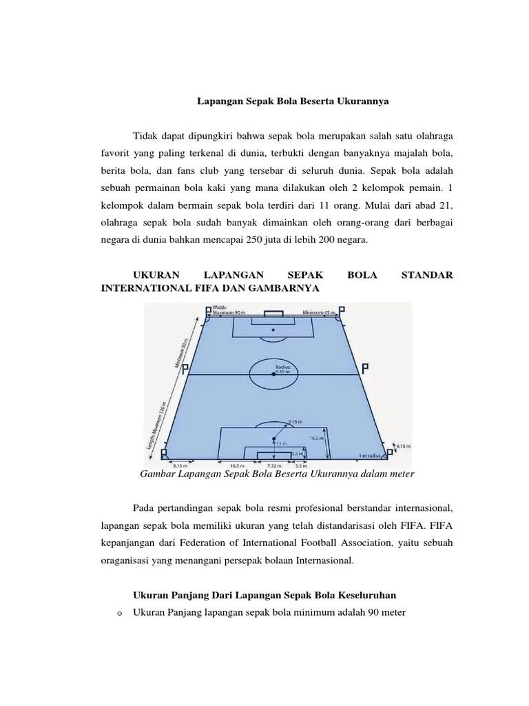 Lapangan Sepak Bola Dan Keterangan : lapangan, sepak, keterangan, Lapangan, Sepak, Beserta, Ukurannya, Keterangannya
