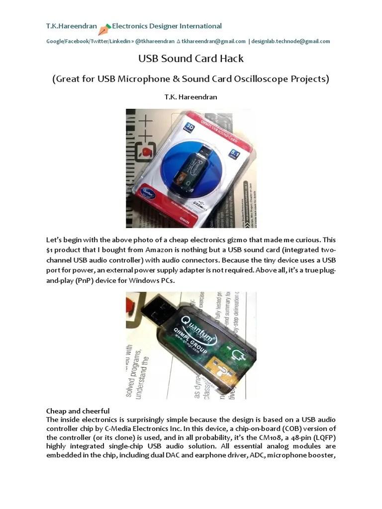 Usb Pnp Sound Device : sound, device, Sound, Microphone, Technology, Engineering