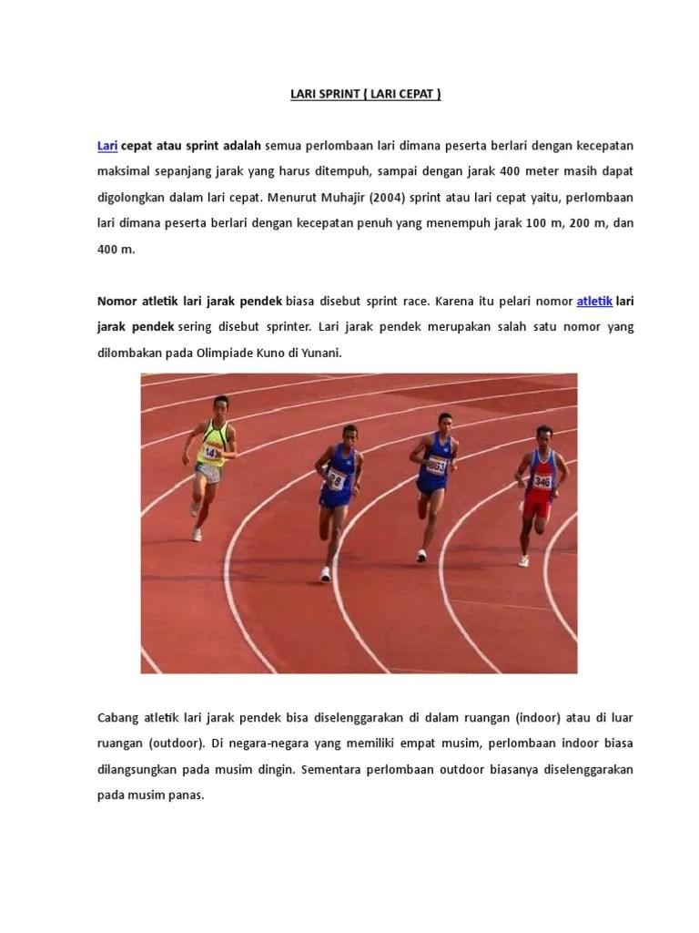 Atlet Jarak Pendek Disebut : atlet, jarak, pendek, disebut, Sprint