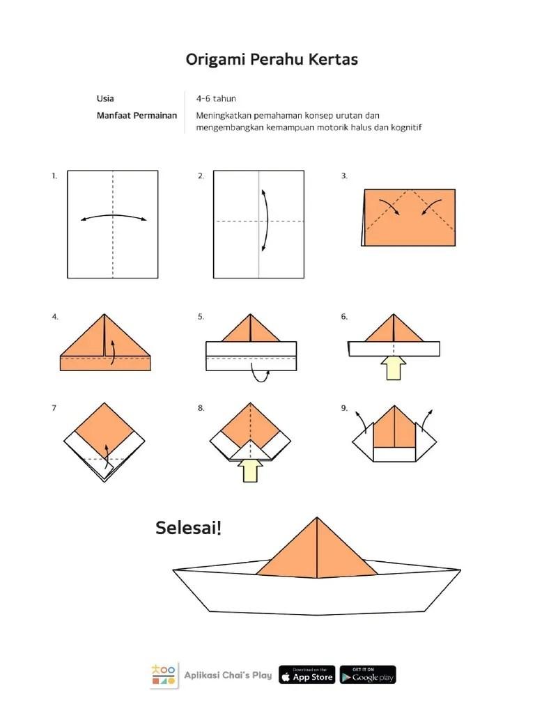Cara Membuat Perahu Kertas : membuat, perahu, kertas, Perahu+Kertas+Berurutan