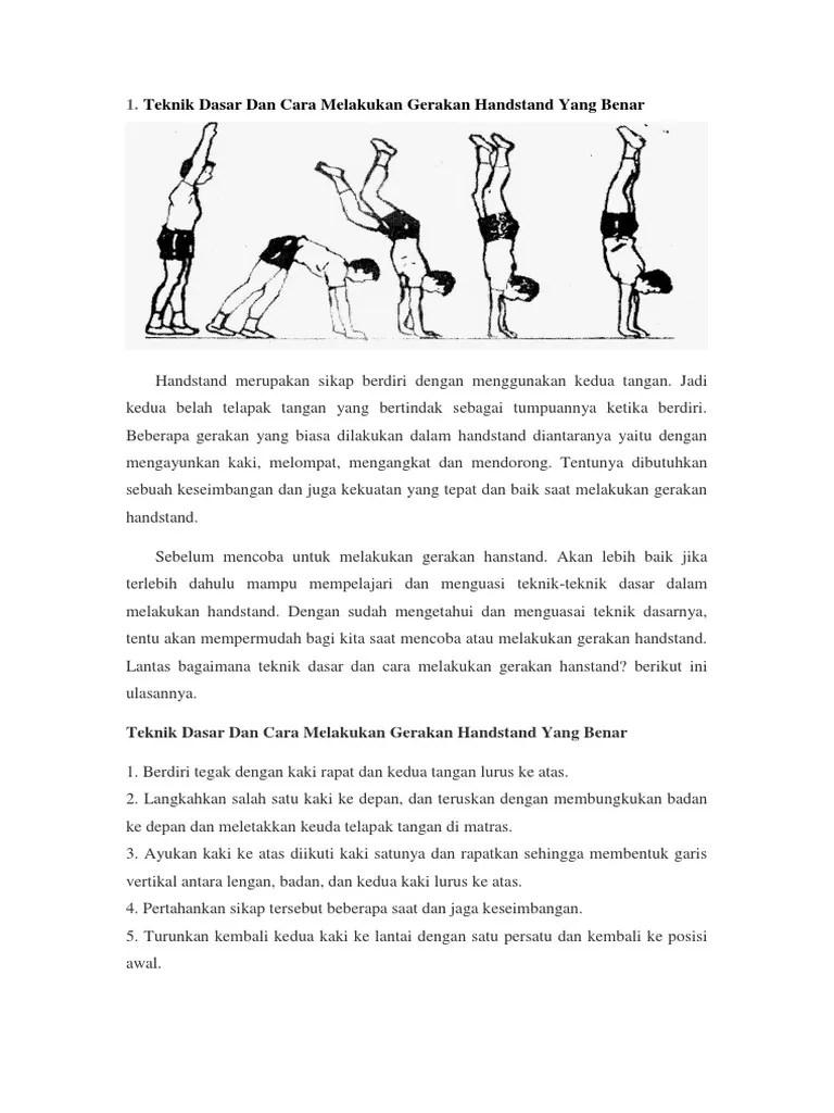 Cara Melakukan Handstand : melakukan, handstand, Handstand
