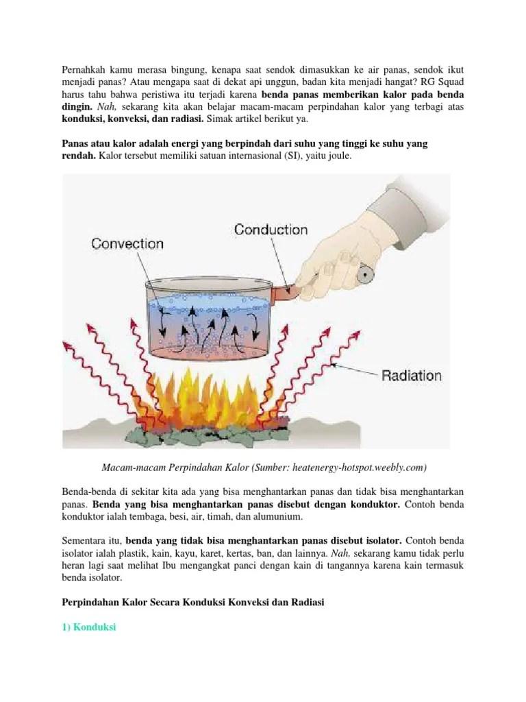 Contoh Perpindahan Kalor Secara Konveksi : contoh, perpindahan, kalor, secara, konveksi, Perpindahan, Kalor, Secara, Konduksi, Konveksi, Radiasi