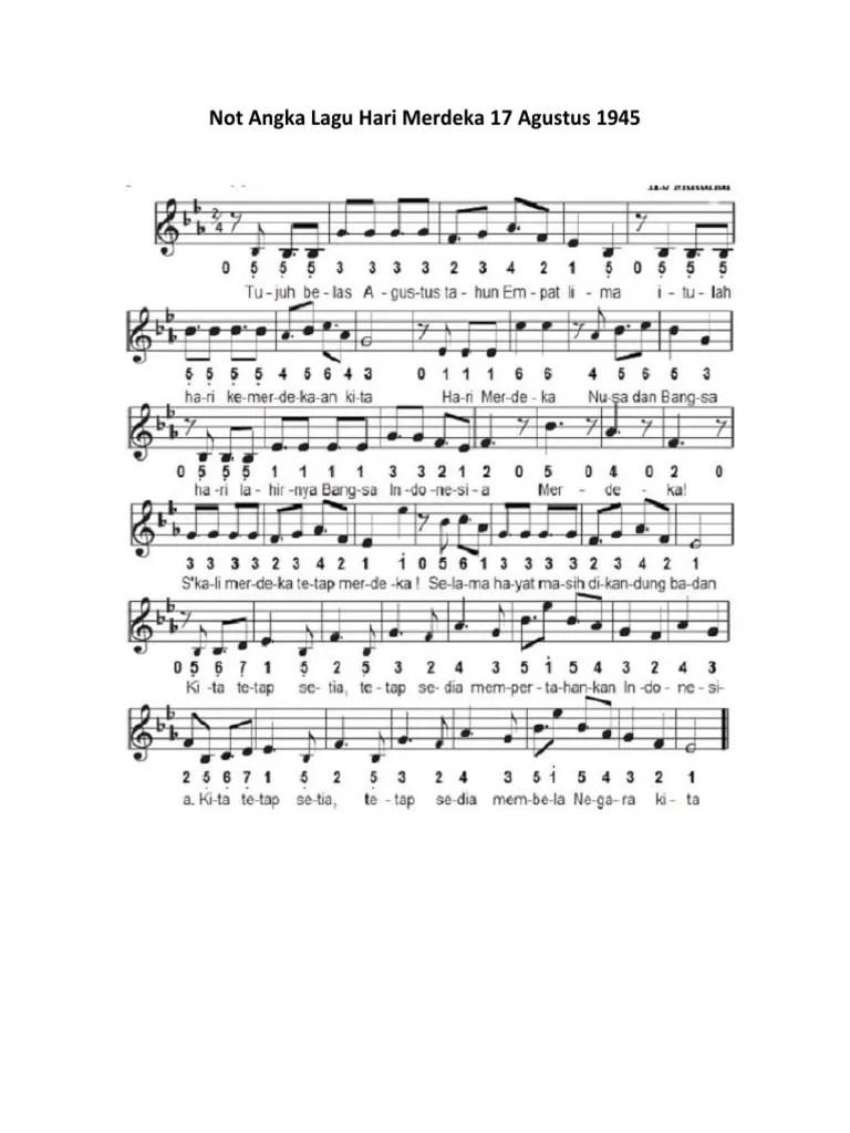 Not Angka Lagu Hari Merdeka : angka, merdeka, Angka