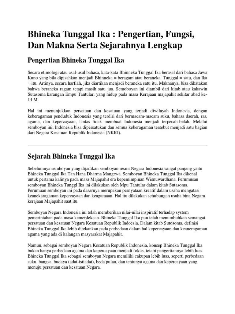 Kalimat Bhinneka Tunggal Ika Berasal Dari : kalimat, bhinneka, tunggal, berasal, Kitab, Sutasoma, Ditulis