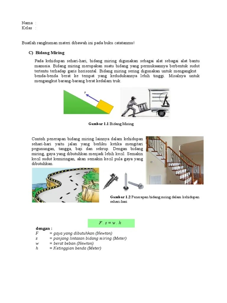 Contoh Bidang Miring : contoh, bidang, miring, Bidang, Miring