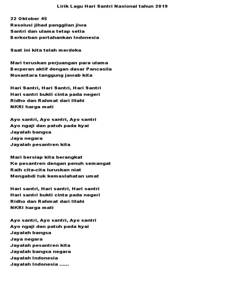 Download Lagu Selamat Hari Santri Nasional 2019 Darul... - Musikarea
