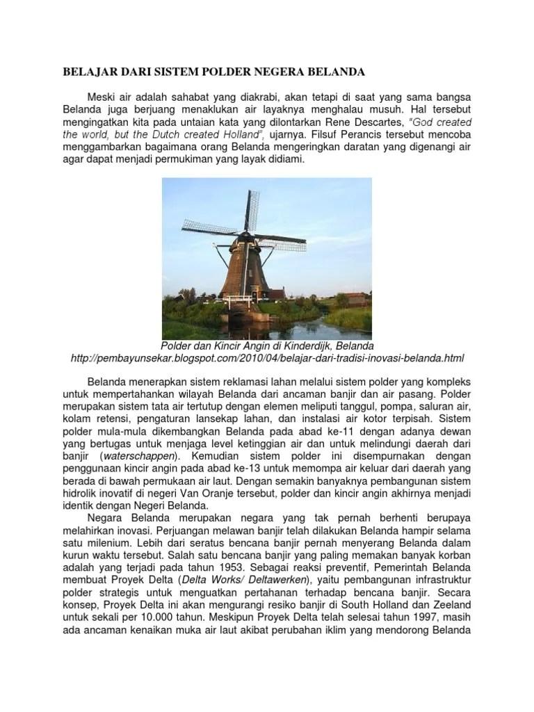 Mengapa Belanda Disebut Negara Kincir Angin : mengapa, belanda, disebut, negara, kincir, angin, Belajar, Sistem, Polder, Negara, Belanda