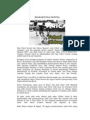Sejarah Futsal : sejarah, futsal, SEJARAH, FUTSAL, DUNIA.docx