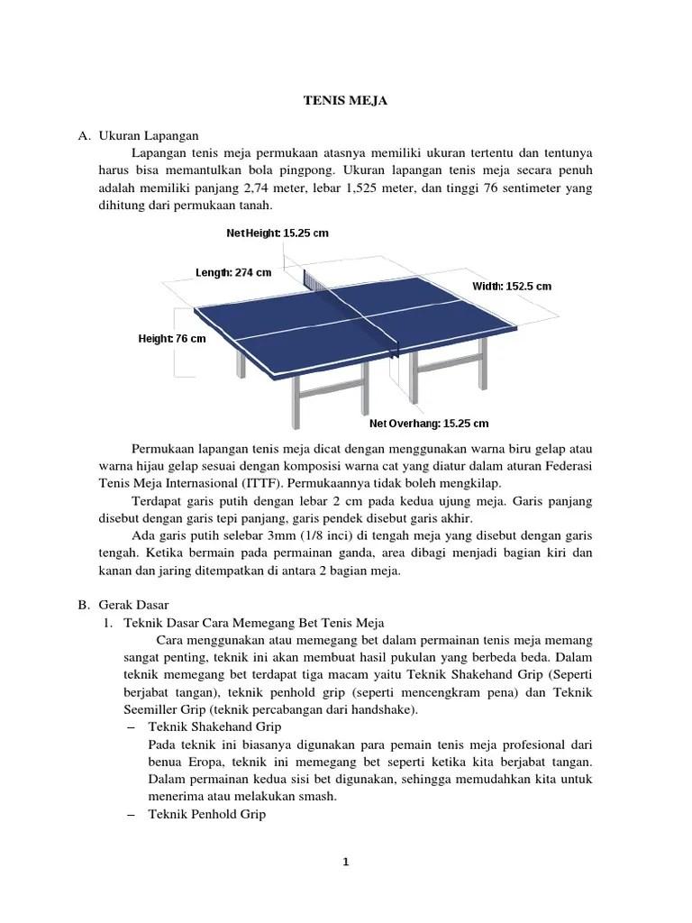 Cara Membuat Lapangan Tenis Meja : membuat, lapangan, tenis, TENIS