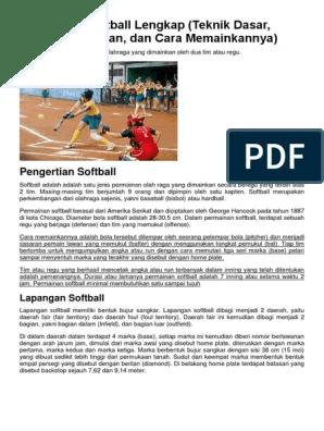 Softball Berasal Dari : softball, berasal, Pengertian, Softball, Lengkap