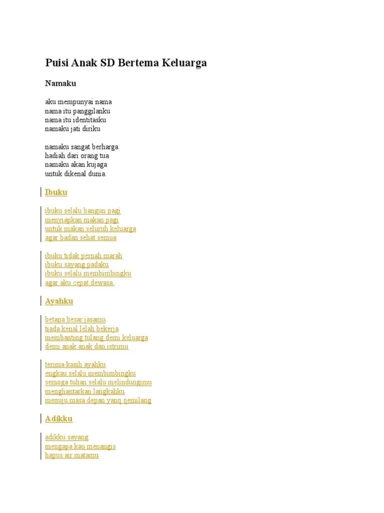 Puisi Keluargaku : puisi, keluargaku, Puisi, Keluargaku, Cute766