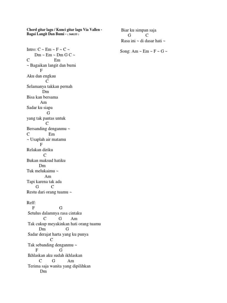 Chord Bagai Langit Dan Bumi : chord, bagai, langit, Bagaikan, Langit, Potret, Chord, Dasar