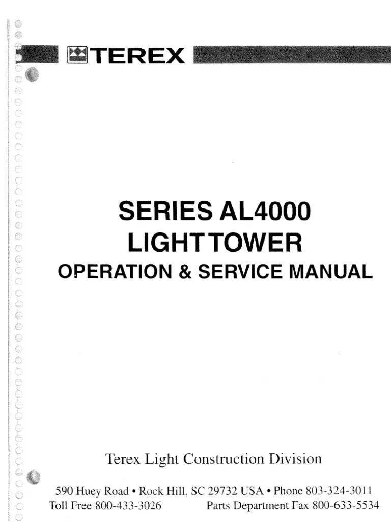 terex light tower wiring diagram [ 768 x 1024 Pixel ]