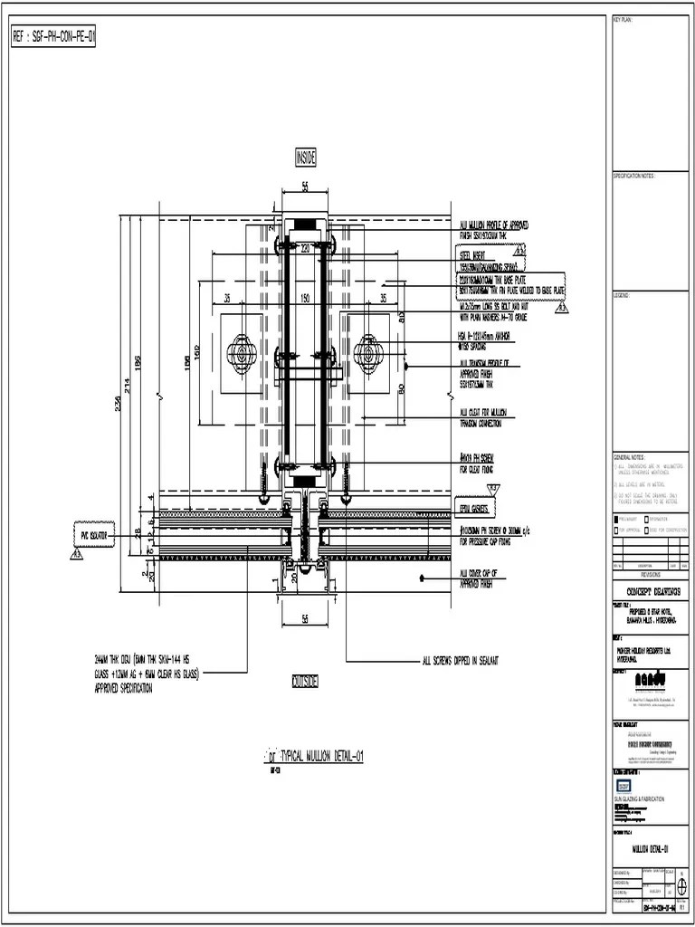 drawing curtain wall simple