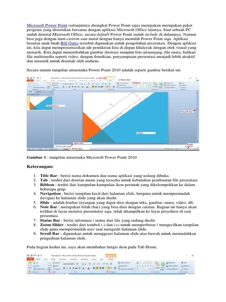 Bagian Bagian Microsoft Powerpoint 2010 : bagian, microsoft, powerpoint, Microsoft, Power, Point