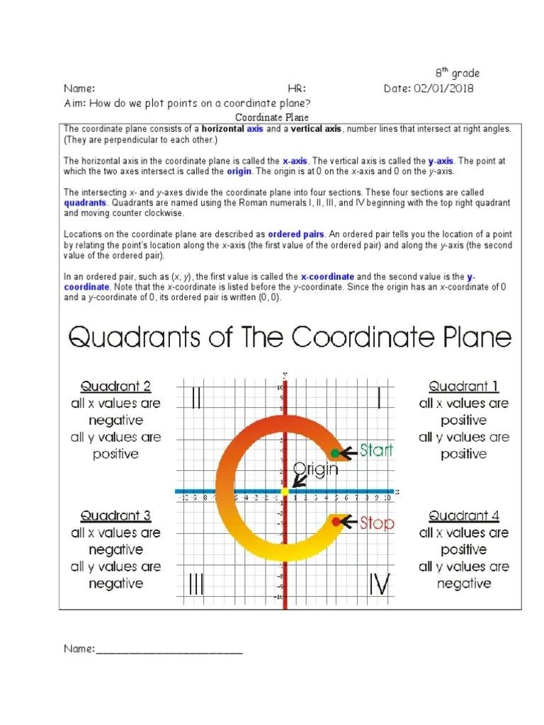 medium resolution of 8th grade The_Coordinate_Plane_Worksheet.doc   Cartesian Coordinate System    Spacetime