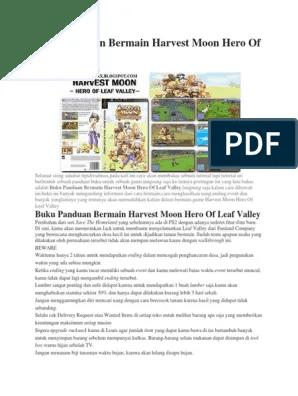 Buku Panduan Harvest Moon Hero Of Leaf Valley : panduan, harvest, valley, Panduan, Bermain, Harvest, Valley
