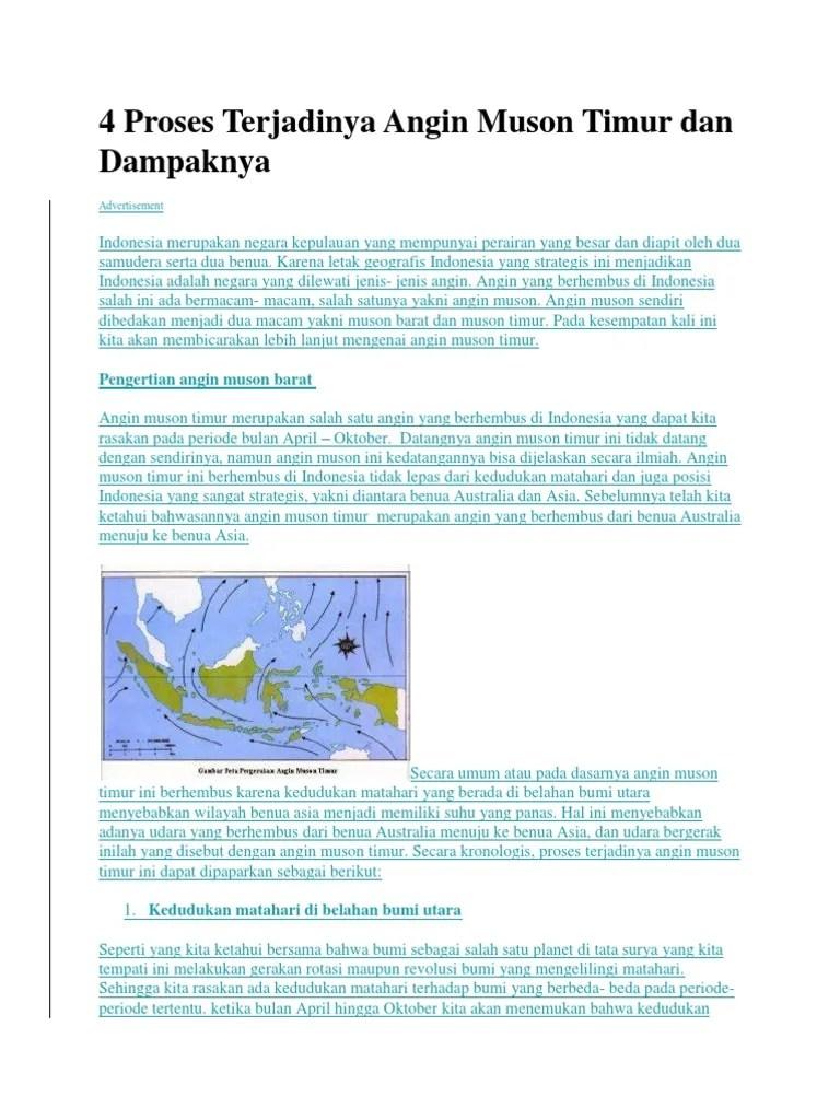 Pengertian Angin Muson : pengertian, angin, muson, Proses, Terjadinya, Angin, Muson, Timur, Dampaknya